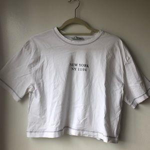 White Zara Tshirt